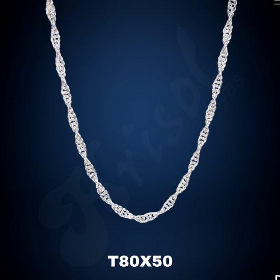 CADENA TURBILLON GRUESO 50 CM. (T80X50)