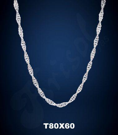 CADENA TURBILLON GRUESO 60 CM. (T80X60)