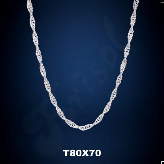 CADENA TURBILLON GRUESO 70 CM. (T80X70)