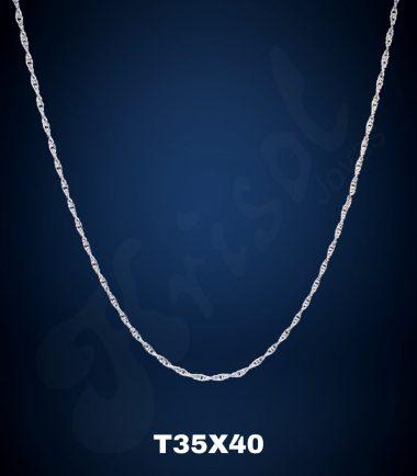 CADENA TURBILLON DELGADO 40 CM. (T35X40)
