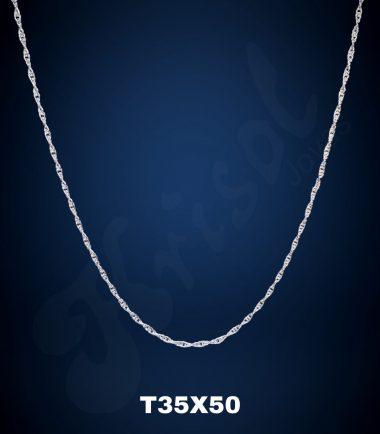 CADENA TURBILLON DELGADO 50 CM. (T35X50)