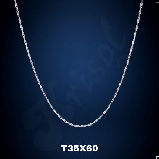 CADENA TURBILLON DELGADO 60CM. (T35X60)