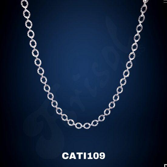 COLLAR OVALOS Y CIRCULOS FACETADO 45CM 4.2GR (CATI109)