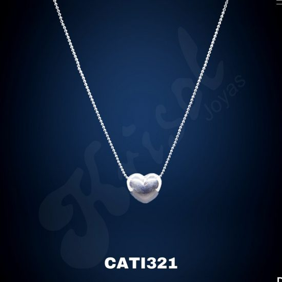 COLLAR BOLITAS MINI C/CORAZON INFLADO 3GR (CATI321)